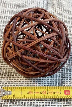 Dekoracyjna kula rattanowa średnica 10 cm kolor brązowy (naturalny)
