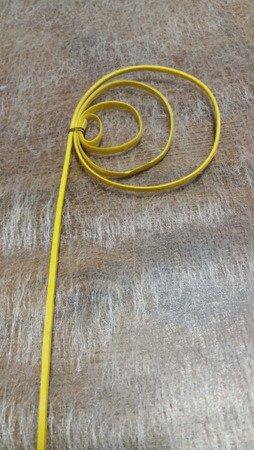 """Sprężynka rattanowa """"pawie oczko"""" kolor żółty"""
